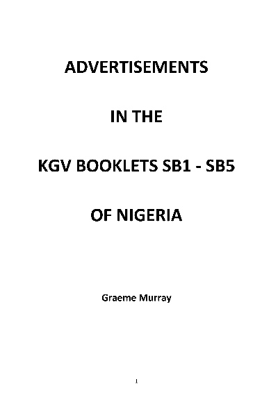 Booklets of Nigeria